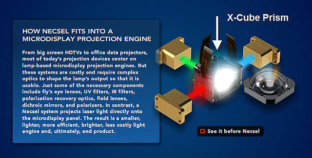 Click image for larger version.  Name:RGB light engine & Prism.jpg Views:103 Size:57.7 KB ID:875