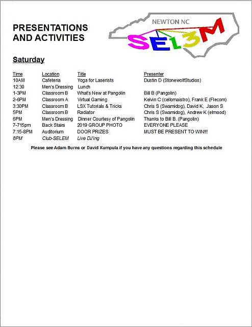 Click image for larger version.  Name:SELEM 13 Presentation Schedule Page 2 (Hardcopy version).jpg Views:7 Size:108.0 KB ID:55784