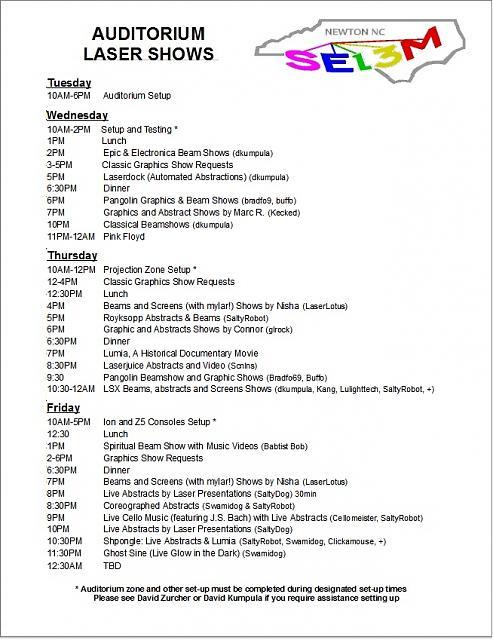 Click image for larger version.  Name:SELEM 13 Auditorium Schedule Page 1 (Hardcopy version).jpg Views:7 Size:185.4 KB ID:55800